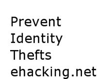 How to Prevent Identity Thefts Online | Ethical Hacking-Your Way To The World Of IT Security #Hacking, #ethical hacking, #infosec, #web security, #penetration testing