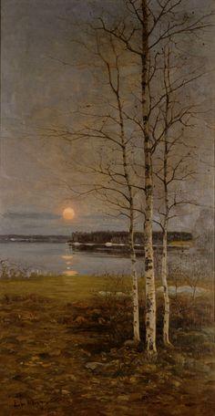 Edvard Westman: Kevätmaisema, 1896 (detail).