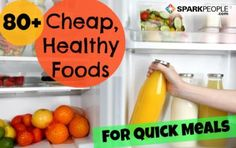 You can lose weight and get healthy as a family while sticking to a budget. Becky's list of cheap and healthy grocery staples proves just that. Don't miss this