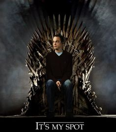 Sheldon on the iron throne