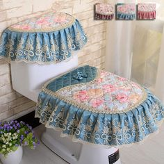 High Quality Three-piece Set Toilet Seat Cover Winter Thickening Warm Overcoat Toliet Case Bathroom Products Toilet Pads Mat