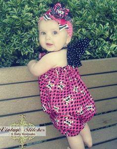 SALE - Punk Skull Romper - Baby Romper - Baby Clothing - Girl
