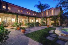 View of home from courtyard - Santa Barbara villa rental