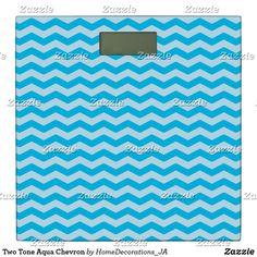 Two Tone Aqua Chevron Bathroom Scale Chevron Bathroom, Bath Scale