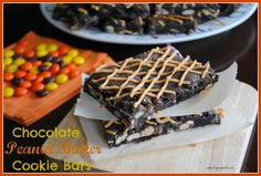 chocolate PB cookie bars