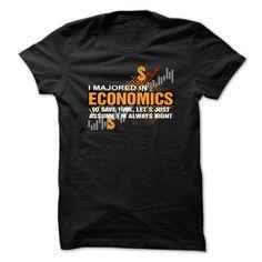 (Top Tshirt Deals) ECONOMICS MAJOR [Tshirt design] Hoodies, Funny Tee Shirts