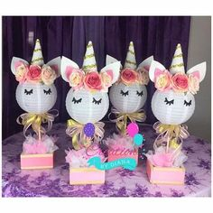 1 Unicorn Centerpiece ,Happy Birthday Unicorn Centepiece, It's a Girl Unicorn Centerpiece,Unicorn Bi Party Centerpieces, Birthday Party Decorations, 1st Birthday Parties, Party Themes, Happy Birthday, Party Ideas, Birthday Ideas, 7th Birthday, Party Unicorn