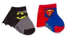 Superhero Batman & Superman Infant Caped Socks 2-Pack $9.99