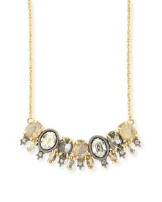 Y2R96 Alexis Bittar Elements Spiked Crystal Pendant Necklace