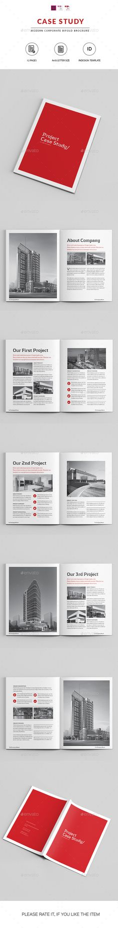 Case Study Booklet Indesign Template by smmr Project case study Brochure template.Easy to use this template.Easily you can edit this template. Case Study Template, Booklet Template, Letterhead Template, Indesign Templates, Brochure Template, Booklet Layout, Booklet Design, Graphic Design Templates, Print Templates
