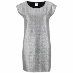 Buy Vero Moda Women's Uru Short Sleeve Metallic Foil Dress - Silver We've got top products at great prices including fashion, homeware and lifestyle products. Silver Dress, Basic Tank Top, Short Sleeves, Short Sleeve Dresses, Dresses For Work, Bridesmaid, Clothes For Women, Tank Tops, Metallic