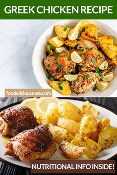 Looking for some Chicken Recipe, Greek Cuisine, One pot meal ? I've got a collection here of the best Greek Chicken Recipe - Side Dishes For Chicken, Greek Chicken Recipes, One Pot Dishes, One Pot Meals, Healthy Dishes, Healthy Foods To Eat, Healthy Recipes, Curry Chicken And Rice, Low Sodium Chicken Broth