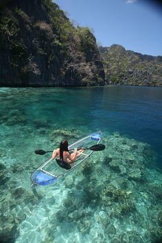 transparent kayaking in Coron, Palawan my ultimate dream! <3
