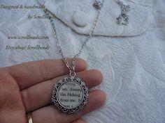 Amuleto di Bram Stoker Van Helsing libro-frammento di Scrollbeads
