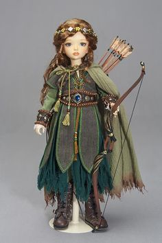 * the outfits in this Gallery were made during and most are no longer available. Pretty Dolls, Beautiful Dolls, Woodland Elf, Forest Elf, Elf Costume, Pirate Costumes, Elf Doll, Vestidos Vintage, Larp