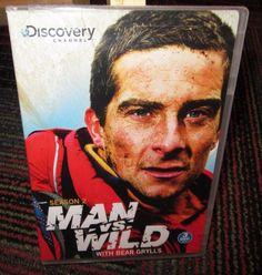 MAN VS. WILD WITH BEAR GRYLLS 3-DISC DVD SET, SEASON 2, DISCOVERY CHANNEL, EUC