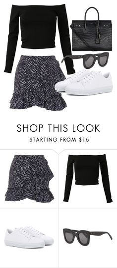 """Untitled #22641"" by florencia95 ❤ liked on Polyvore featuring Topshop, A.P.C., CÉLINE and Yves Saint Laurent"