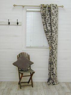 French Auvergne Linen Black Curtain Fabric - The Millshop Online