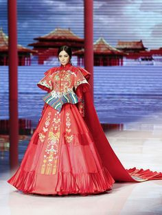 NE-TIGER Haute Couture Collection during the Mercedes-Benz China Fashion Week Spring/Summer 2016 Beijing, China.
