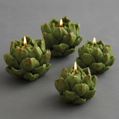 Artichokes gone votive candle holder