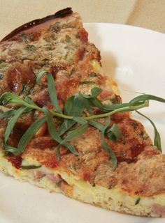 Baked Omelet with Ham, Muenster, and Tarragon