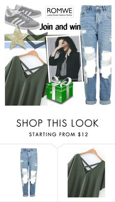 """""""New Romwe contest"""" by beenabloss ❤ liked on Polyvore featuring Topshop and adidas Originals"""