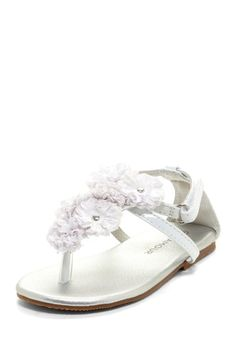 ..L'amour Flower Strap Sandal by L'amour & Angel Shoes on @HauteLook..