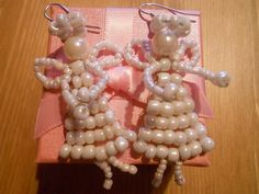 Angel earings perfect for Christmas Eve :-)