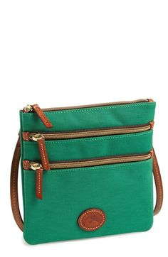 Dooney & Bourke Triple Zip Nylon Crossbody Bag available at #Nordstrom