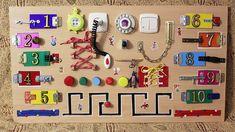 Розвиваючі дошки для малюків — робимо цікаву іграшку самостійно Diy Busy Board, Latch Board, Magic Charms, Sensory Boards, Activity Board, Recreational Activities, Busy Bags, Baby Makes, Baby Play