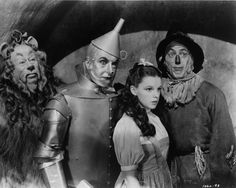 Wizard of Oz 1939 Bert Lahr-lion, Jack Haley-tinman, Judy Garland-Dorothy Gale, Ray Bolger-scarecrow Old Movies, Great Movies, Movies Showing, Movies And Tv Shows, I Movie, Movie Stars, Ray Bolger, Jack Haley, Wizard Of Oz 1939