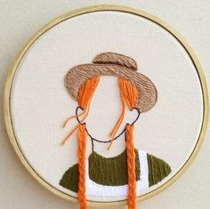alian de anne with an e - Búsqueda de Google Embroidery Hoop Crafts, Simple Embroidery, Hand Embroidery Patterns, Cross Stitch Embroidery, Embroidery Designs, Sewing Art, Sewing Crafts, Needlework, Inspiration