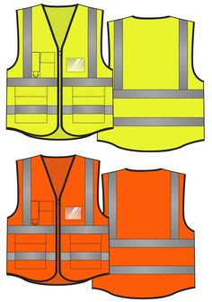 EN 20471 & ANSI 107 multi pockets safety vest, 120gsm tricot, zipper closure, name card pocket, logo printing customizable. Protect your worker with reflective vests. See more on www.chinareflective.com