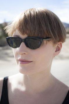 Punk Goth Semi-Rimless Half Frame Polygon Vintage Sunglasses NOS -HAZE - Sunglass Museum