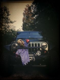 Halloween is near, Jeep decorations are a MUST! #ZombieJeep #HalloweenJeep #Zombies