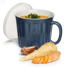 Sagaform Soup Mug with Lid (665 RUB) ❤ liked on Polyvore featuring home, kitchen & dining, sagaform and blue stoneware