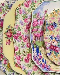I love floral china. Antique Dishes, Vintage Dishes, Antique China, Vintage China, Antique Pottery, Vintage Tea, Royal Doulton, Blueberries, Vintage Plates