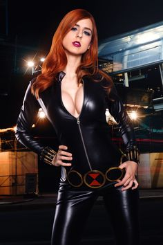 [Sexy Cosplay] Juby Headshot as Black Widow Black Widow Cosplay, Kawaii Cosplay, Anime Cosplay, World Most Beautiful Woman, Marvel Cosplay, How To Make Shorts, Cultura Pop, Cosplay Girls, Supergirl