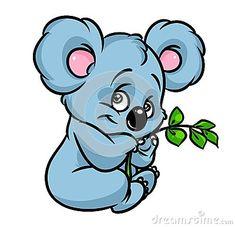 Koala eucalyptus branch cartoon illustration isolated image animal character Animal Paintings, Animal Drawings, Animals And Pets, Cute Animals, Illustrations And Posters, Children's Book Illustration, Childrens Books, Art For Kids, Wolf