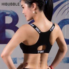 1a2700916139c HIBUBBLE Women Sport Bra Top Black Padded Yoga Brassiere Fitness Sports  Tank Top Female Sport Yoga