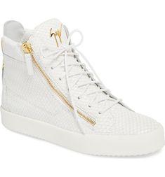 142552399e5c Giuseppe Zanotti Snake-Embossed High Top Sneaker
