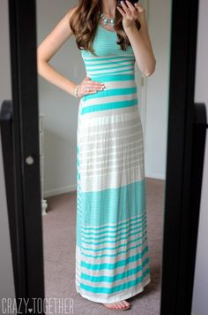 Please send this EXACT dress in my next fix! August 2015- light green Mitchel Maxi Dress from Gilli - July Stitch Fix Review