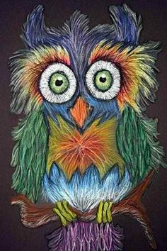 I Love the easy but complicated look of the owl.