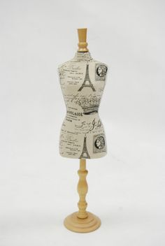 "Miniature Dress Form - Paris Pattern 24"""