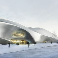 Beijing architects MAD have unveiled their design for a 200m-long, icicle-shaped museum in Harbin, northeast China.        The museum, which will be dedicated to Chinese wood sculptures, is the first of a trio of cultural buildings in the city designed by MAD.