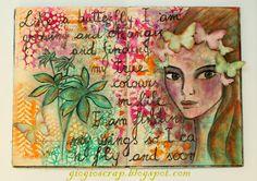 Scrap in Progress: Face & Panpastels page