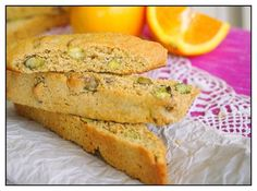 Orange Pistachio Biscotti by forksandsporks #Biscotti #Orange #Pistachio