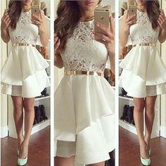 Charming Prom Dress,Short Prom Dress,Lace Graduation Dress Homecoming Dress