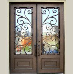 iron entry doors for sale - Price,China Manufacturer,Supplier 114330 Iron Front Door, Glass Front Door, Glass Doors, Shanghai, Double Entry Doors, Wrought Iron Doors, Cool Doors, Front Door Design, Steel Doors