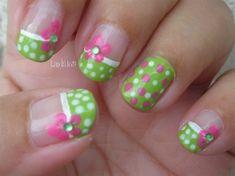 Pink Polka Dot Bikini - Nail Art Gallery by NAILS Magazine.I would love this on the toes. Fancy Nails, Trendy Nails, Diy Nails, Cute Nails, Gel Manicure, Shellac, Polka Dot Bikini, Pink Polka Dots, Pedicure Designs